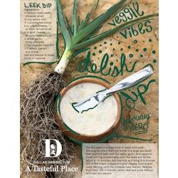 Leek Dip Graphic Recipe